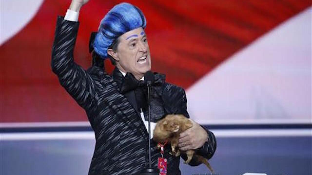 WATCH: Stephen Colbert crashes RNC stage for 'Hunger Games' prank