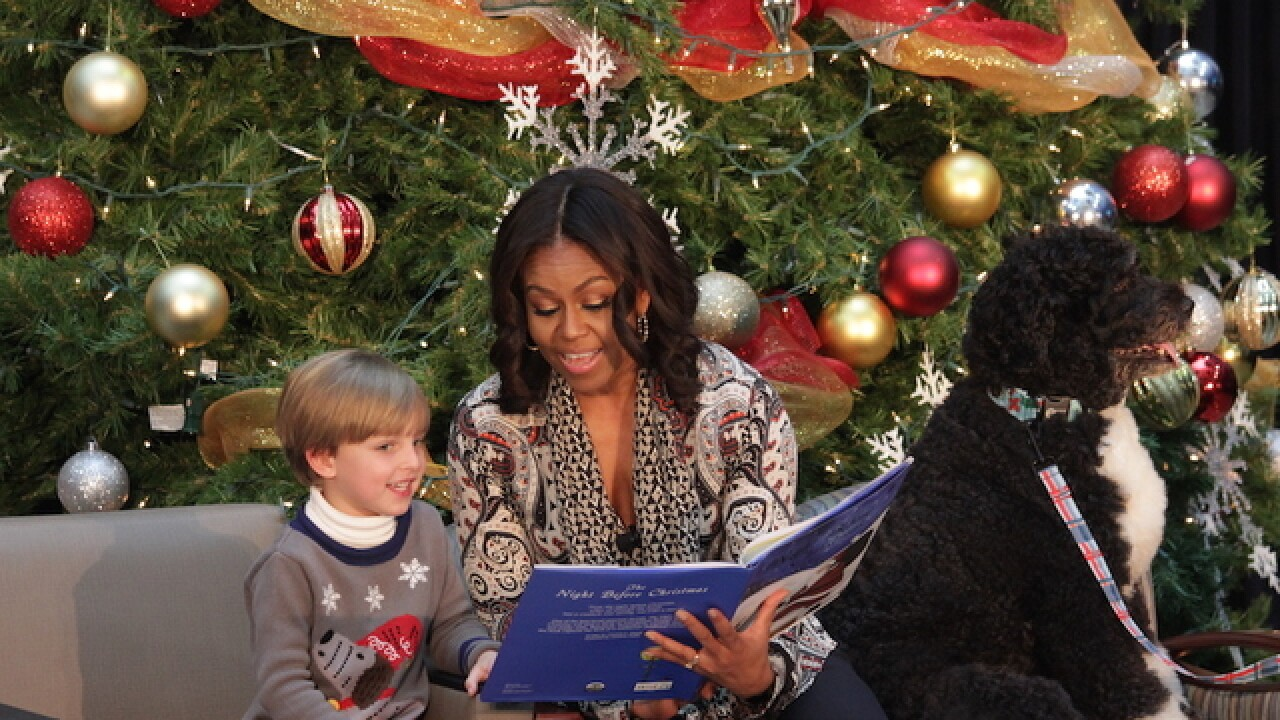 First lady surprises children in hospital
