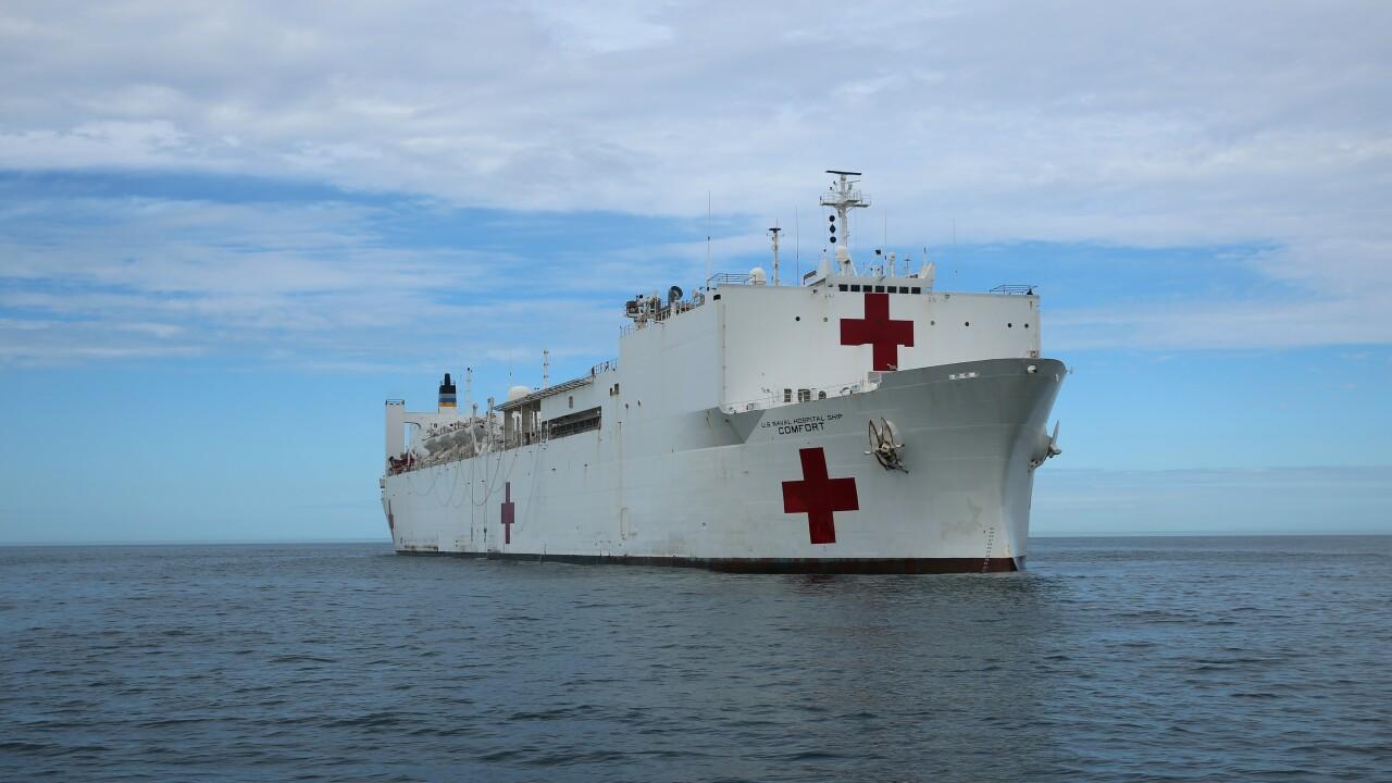 Hospital ship USNS Comfort leaves Norfolk for PuertoRico