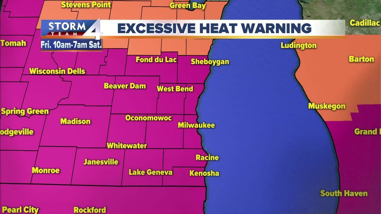 Excessive Heat Warning issued as 'feels like' temperatures