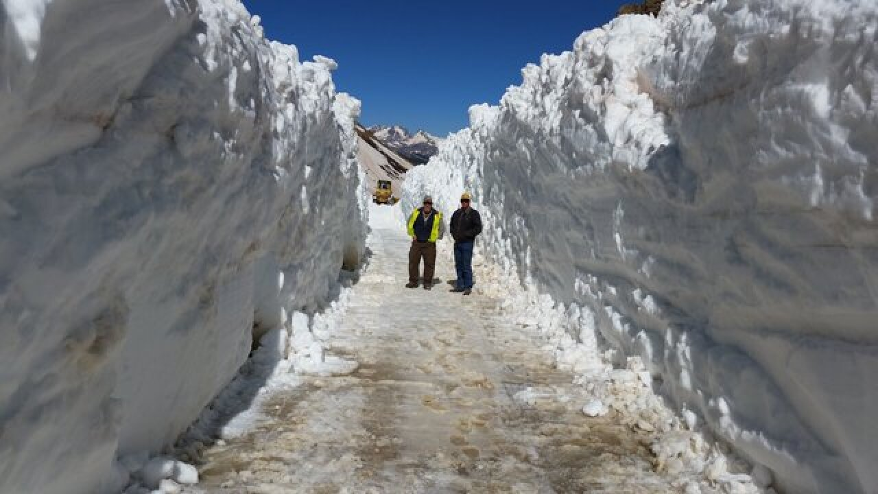 Would you drive this road? Ophir Pass between Telluride and Silverton plowed