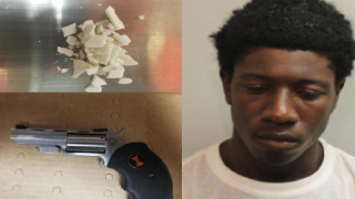 Man arrested after found with drugs, loaded gun near church.png