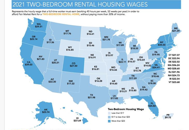 National Low Income Housing Coalition map
