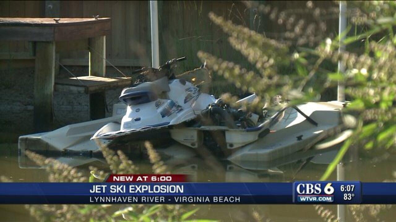 Woman injured after jet ski explosion in LynnhavenRiver