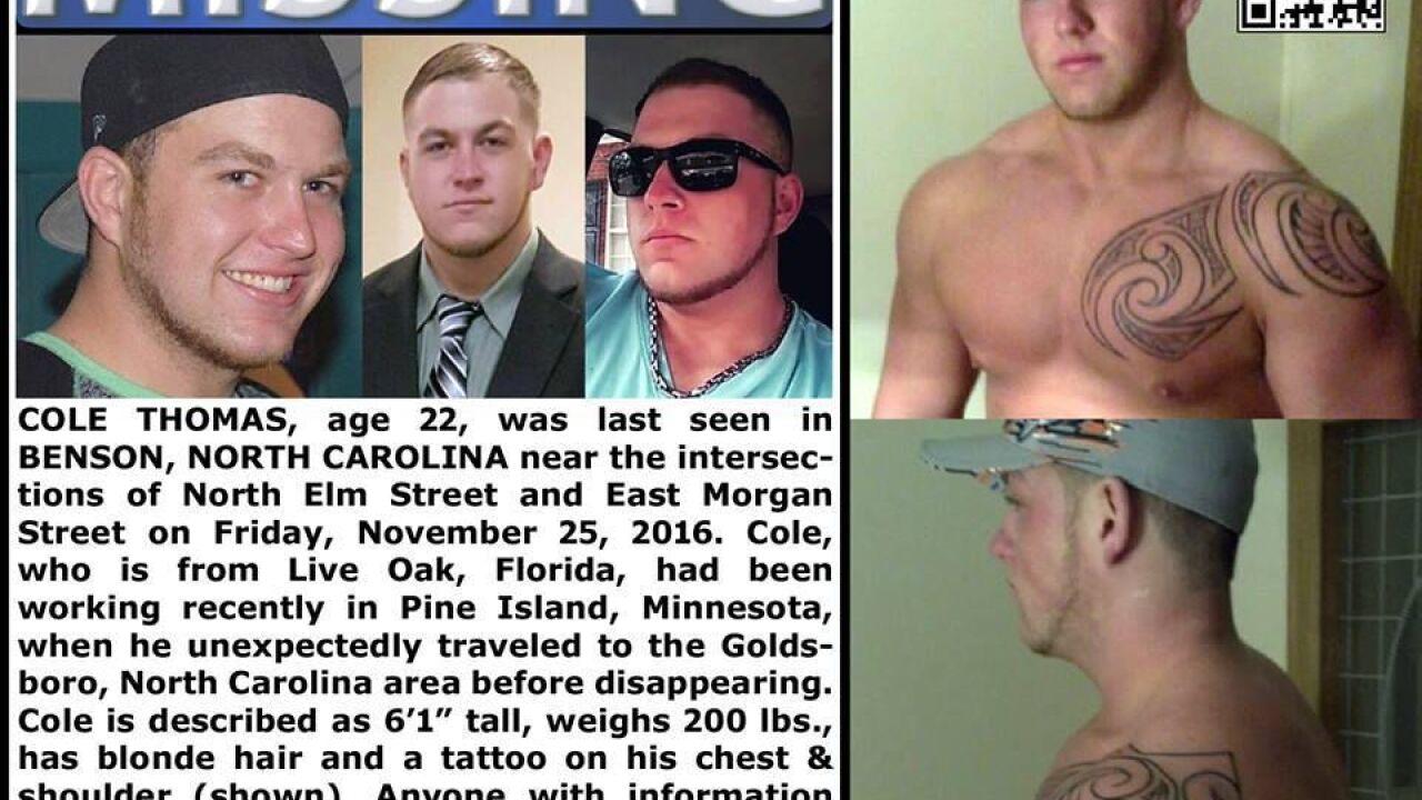 Cole Thomas Missing