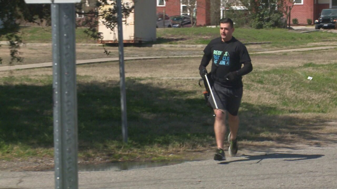 Norfolk man cleans up community while getting active