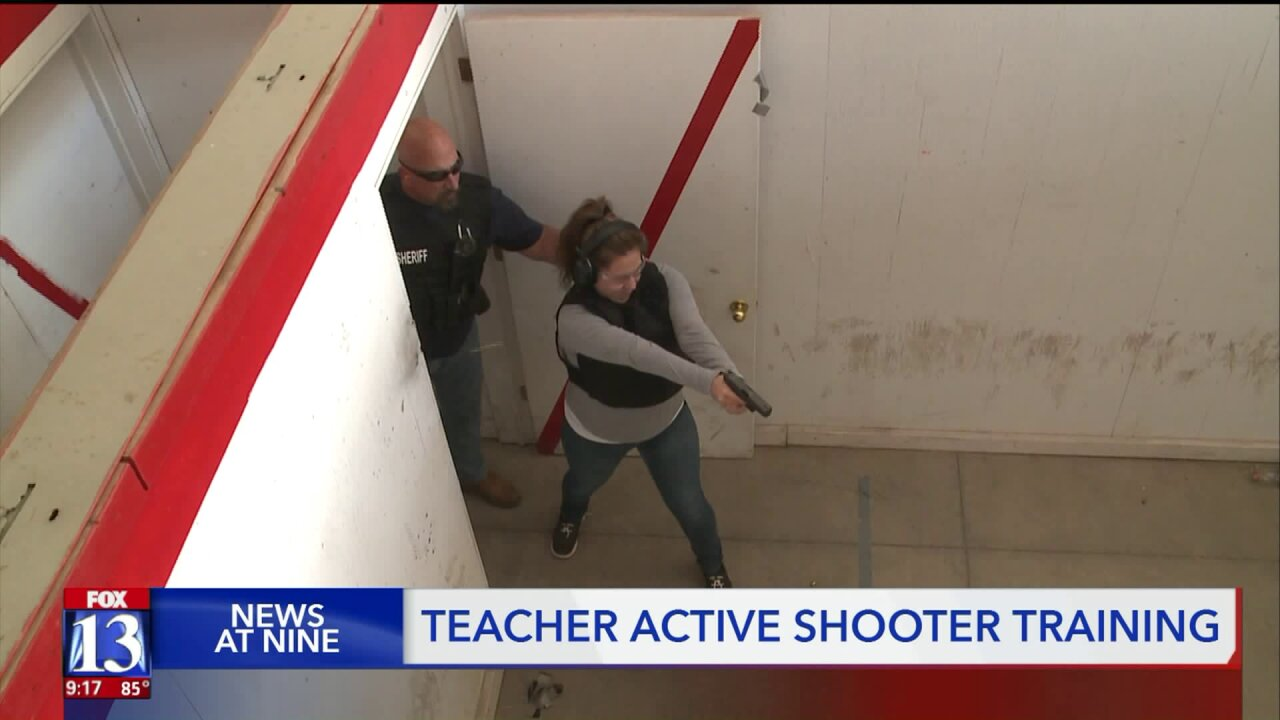 Utah teachers get firearm training in case of school shootings