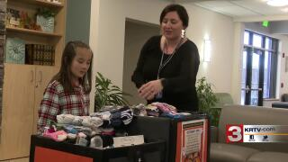 """Great Falls girl creates """"Socktober"""" to help the Rescue Mission"""