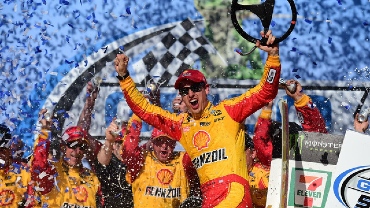 Joey Logano snaps long losing streak with win at Talladega