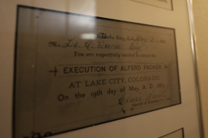 Alferd Packer_invitation to execution
