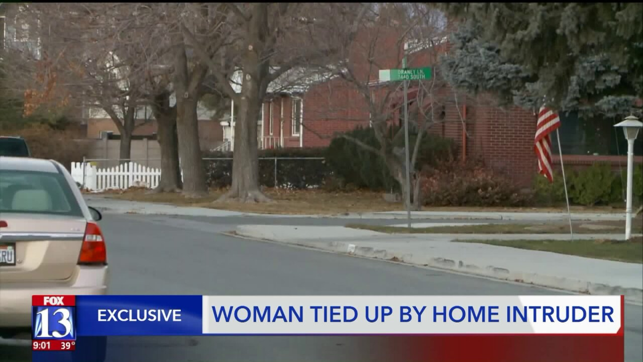 Police seek suspect who tied up woman in Midvale home invasion