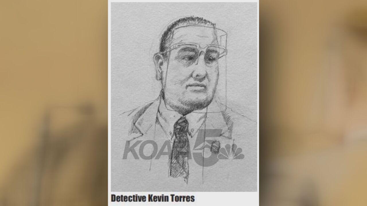 Court sketch of CBI Agent Kevin Torres