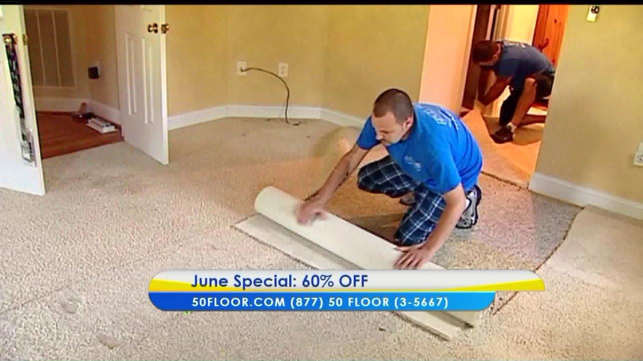 Save 60% off on all carpet, hardwood, laminate andvinyl