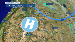 Warm temperatures today but cooler on Wednesday