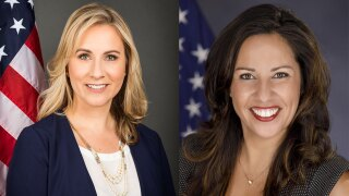 Kelly Shoaf and Christina Lambert, West Palm Beach commissioners