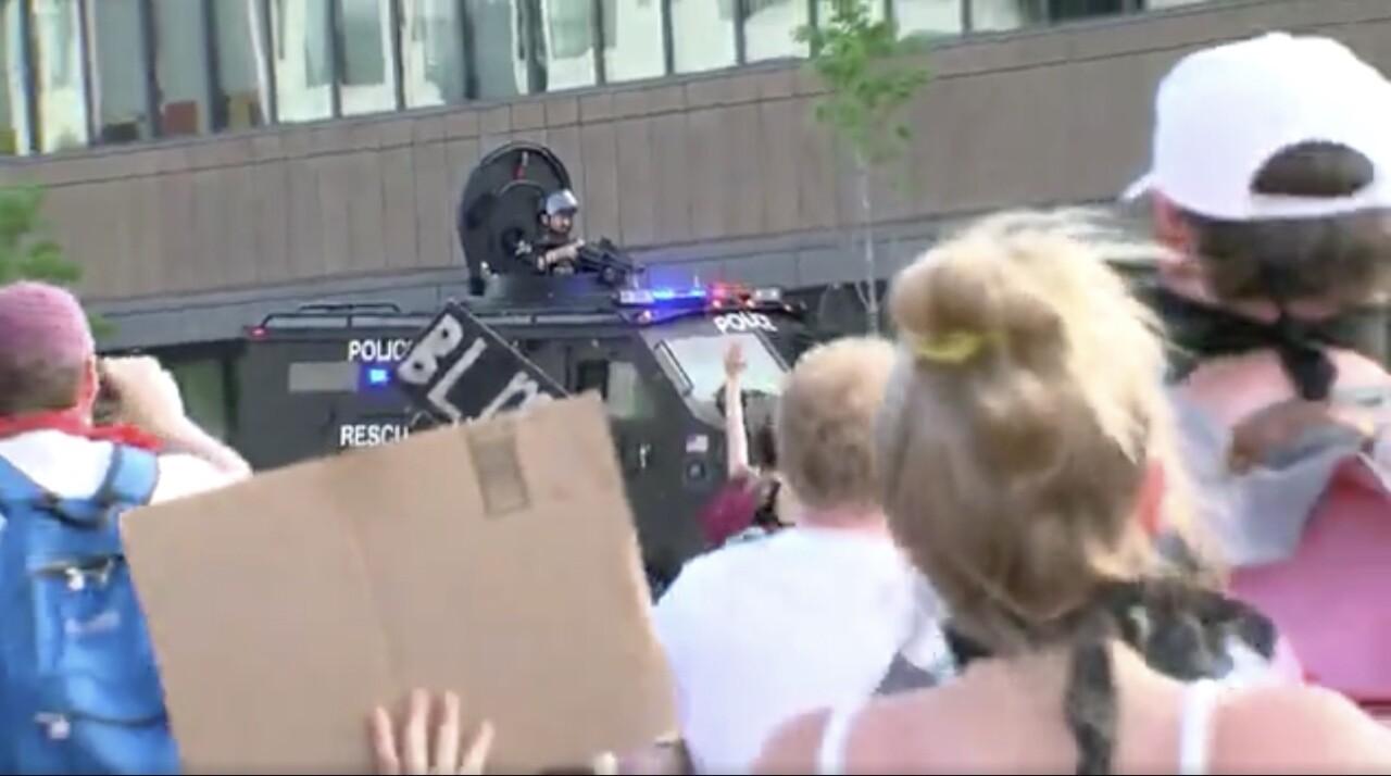 Milwaukee protests Milwaukee police smoke and gas