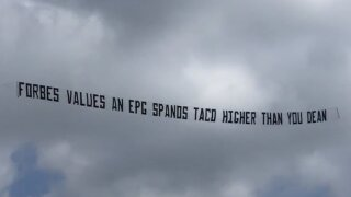 San Diego restaurant owner trolls Chargers owner Dean Spanos with airplane-flown banner