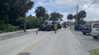 No one was injured in a single-car rollover crash in Martin County on Saturday.