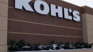 Kohls building with brown bricks and shrubbery