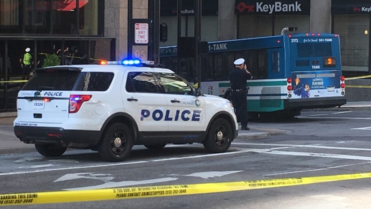 Bus hits pedestrian in downtown Cincinnati