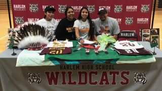 Harlem's L'Tia Lawrence signs with Montana State-Northern
