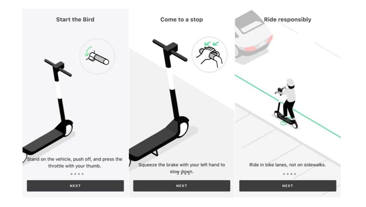 Escooter Bird instructions