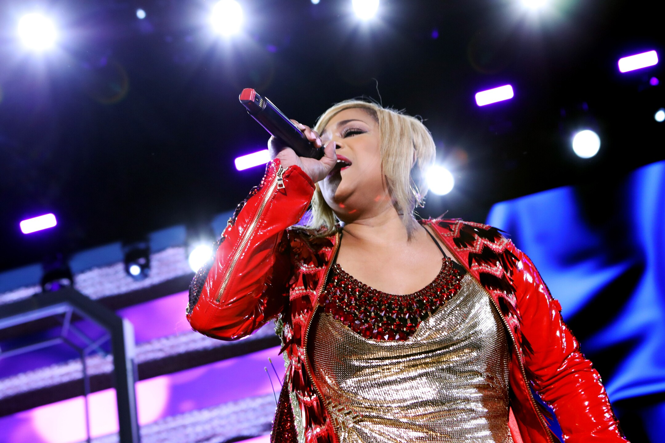 Tionne 'T-Boz' Watkins performs at 61st Annual GRAMMY Awards.
