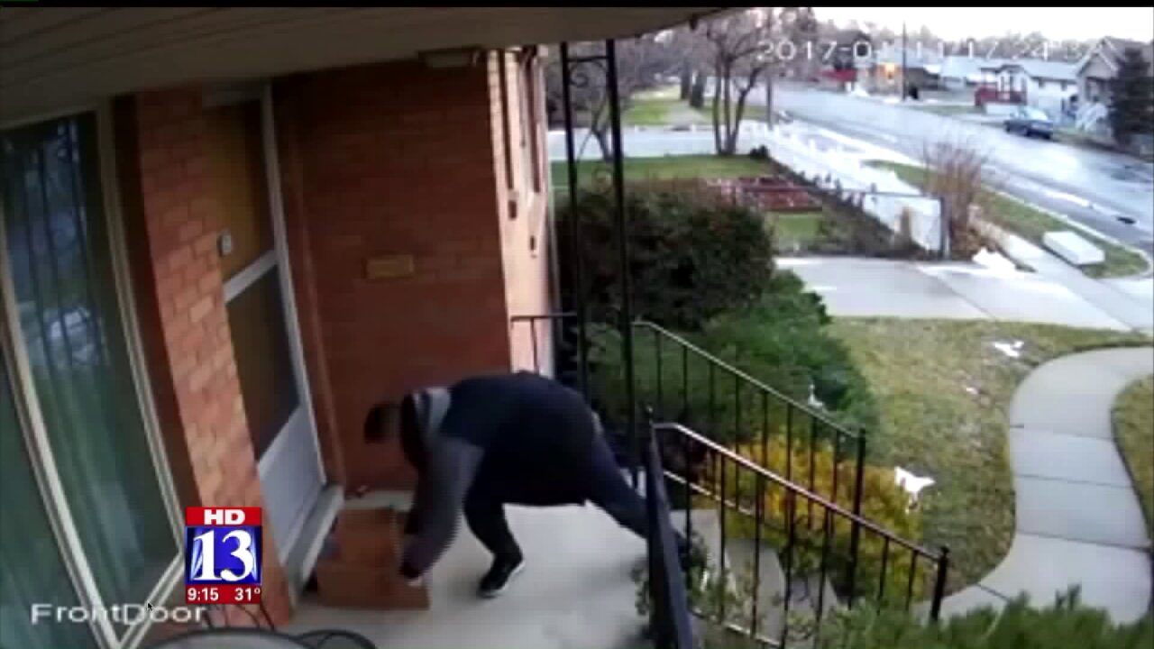 Utah man fed up with package thefts begins leaving prank parcels onporch