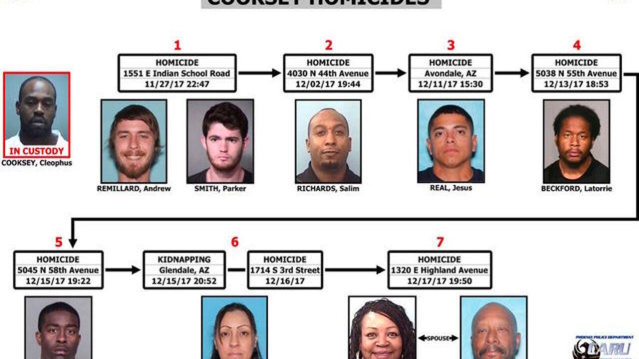 Phoenix man accused of killing 9 people