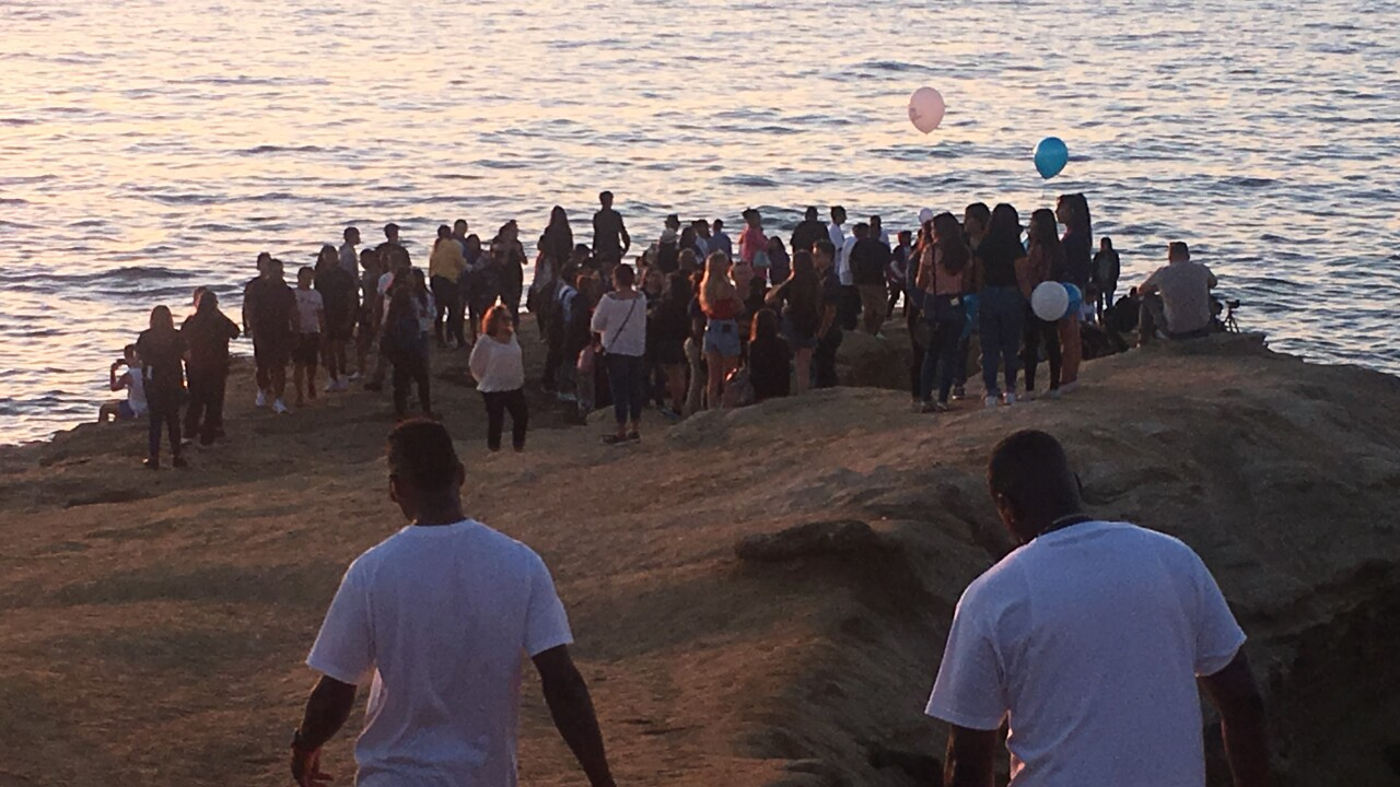 Sunset Cliffs vigil (Anthony Womack)