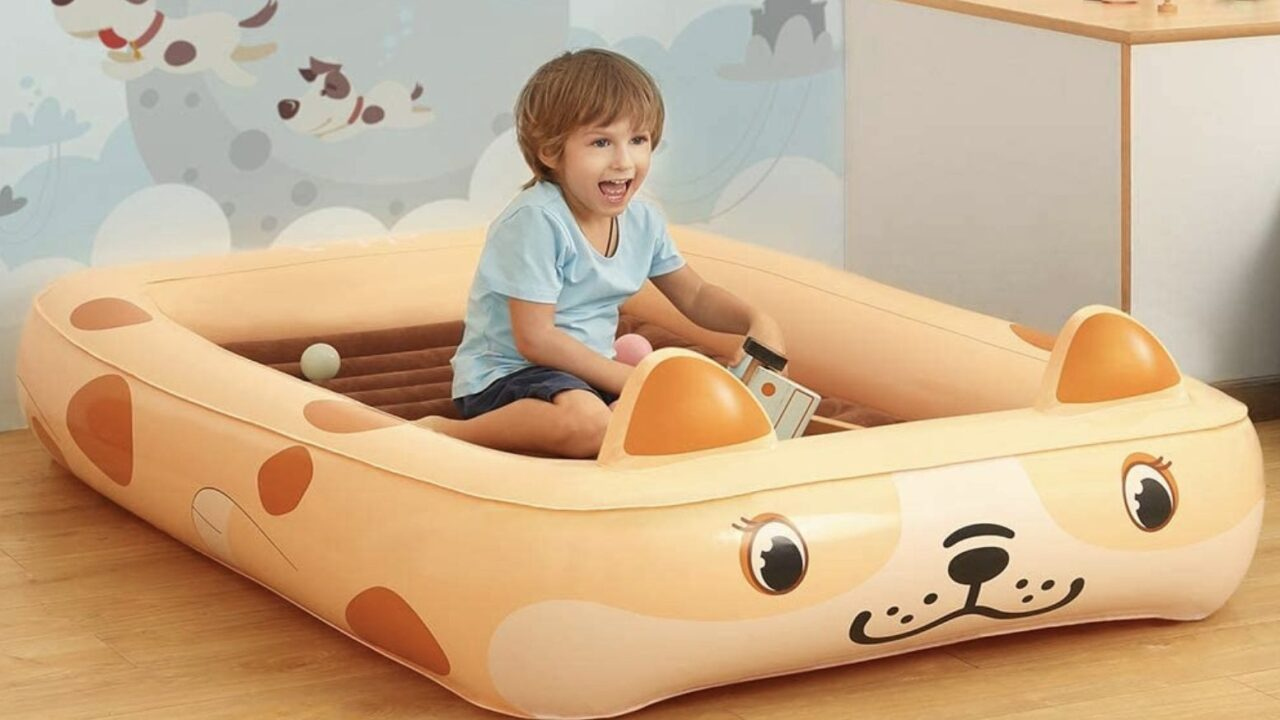 Portable kids' air mattress with electric pump is on sale for $37