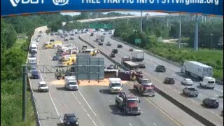 Woman charged after semi crash closes I-95 north near Chippenham Parkway in Chesterfield