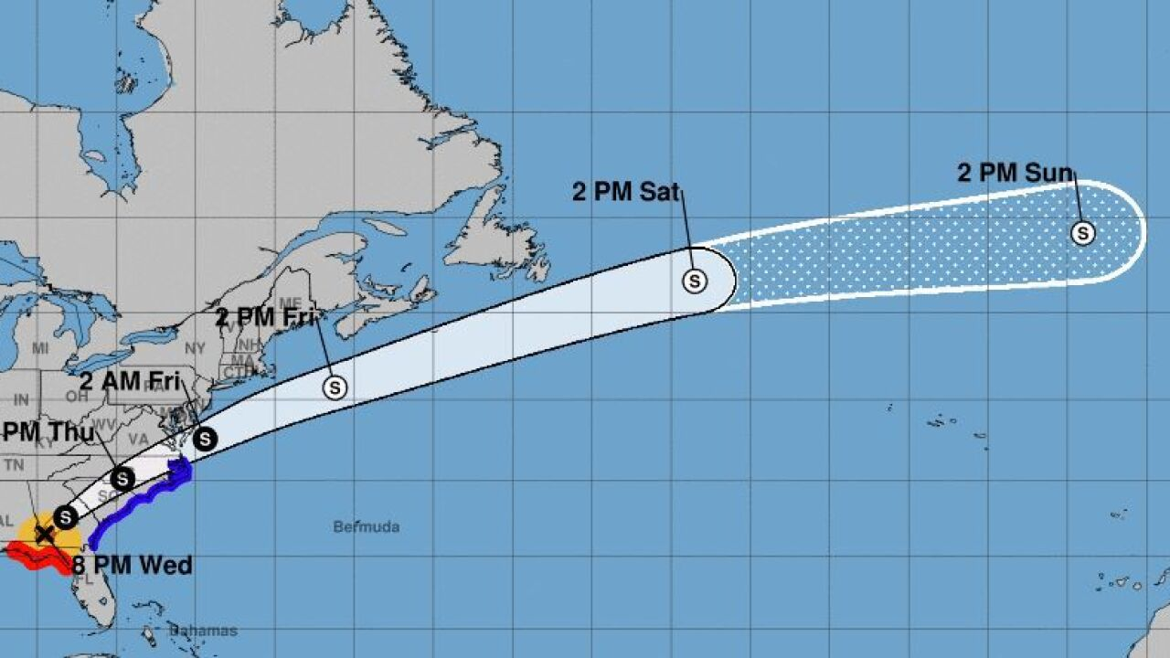 Hurricane Michael weakens to Category 2 as it moves through Georgia.JPG