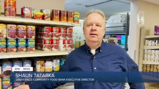 Shaun Tatarka, director of the Great Falls Community Food Bank