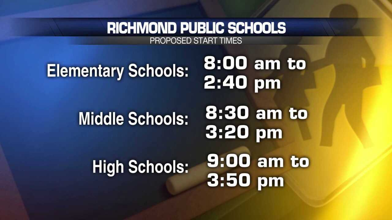 Richmond School Board invites parents to attend meetings about school start times