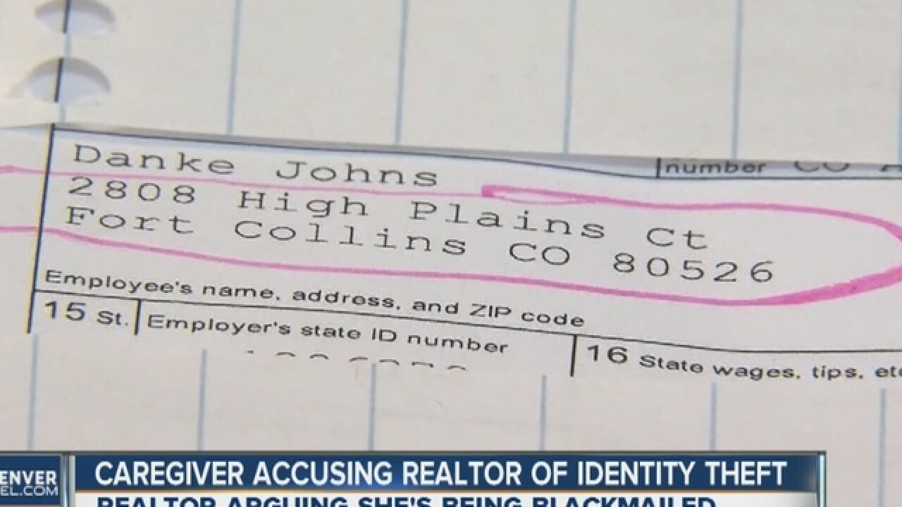 Caregiver accuses realtor of identity theft