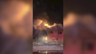 No injuries in overnight house fire east of Belt
