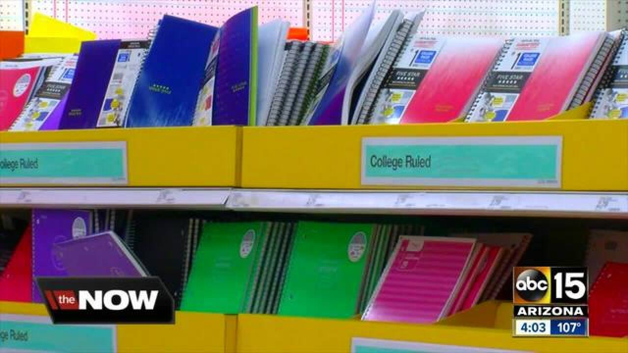 Growing costs of back to school supplies