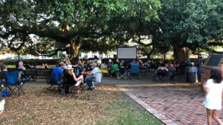 Abbeville screens 'The Blob' in Magdalen Square