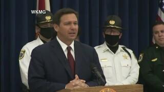 Florida Gov. Ron DeSantis holds a news conference in Titusville on April 1, 2021.jpg