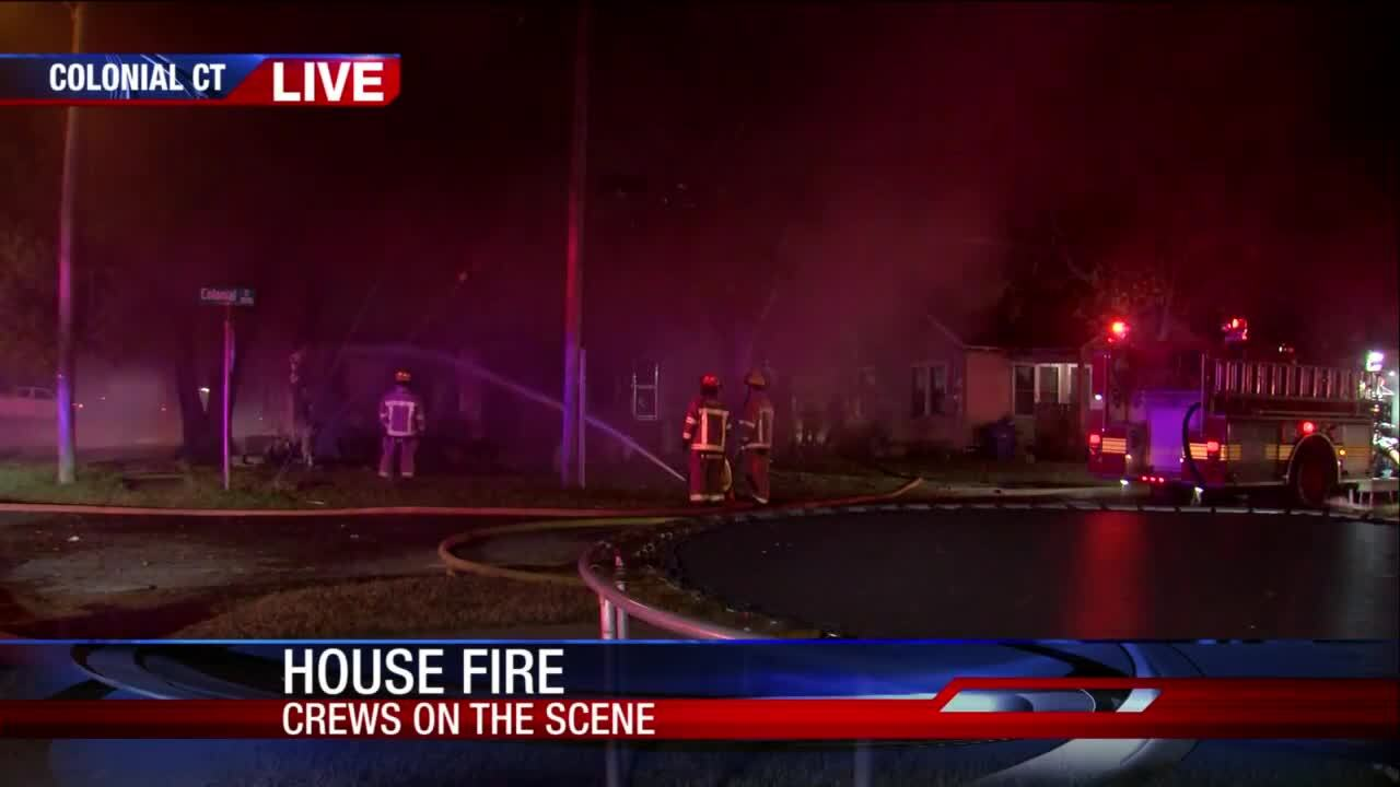 House fire near Driscoll Middle School