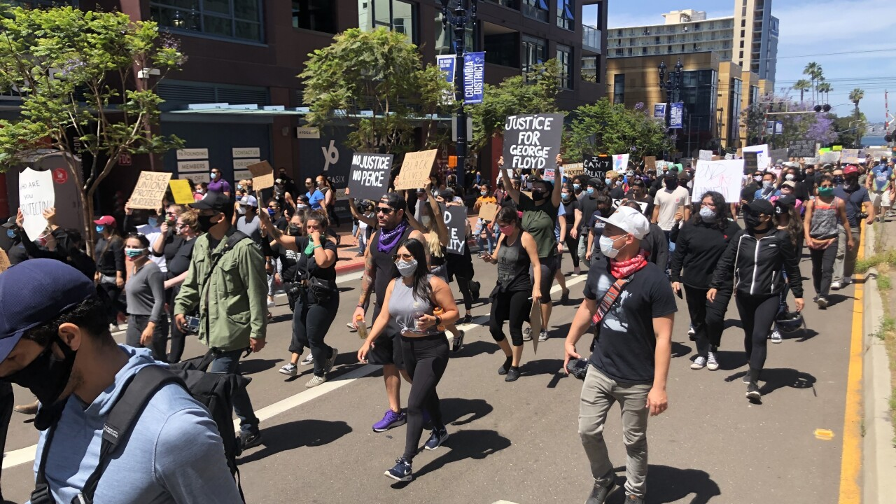 Downtown San Diego Black Lives Matter protest