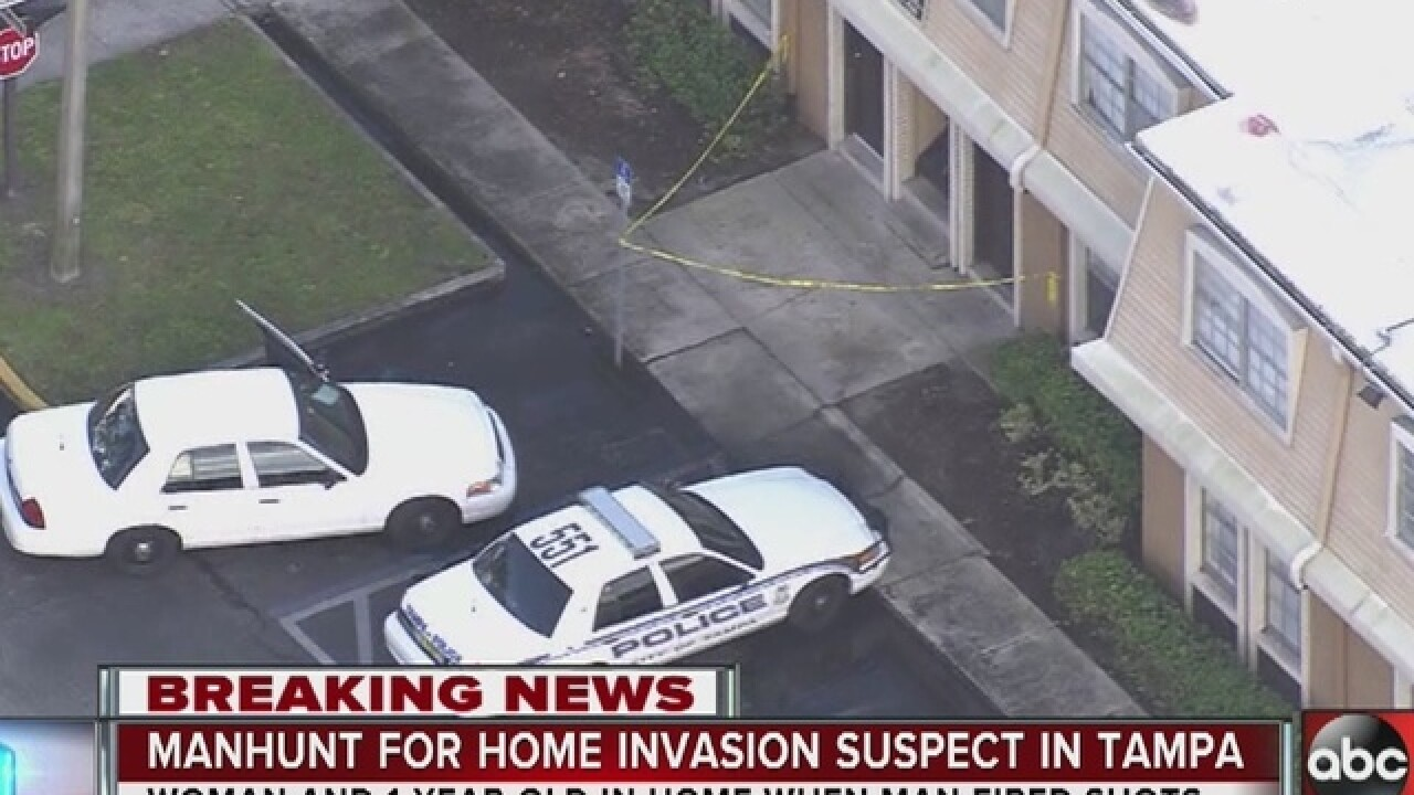 Shot fired during Tampa home invasion