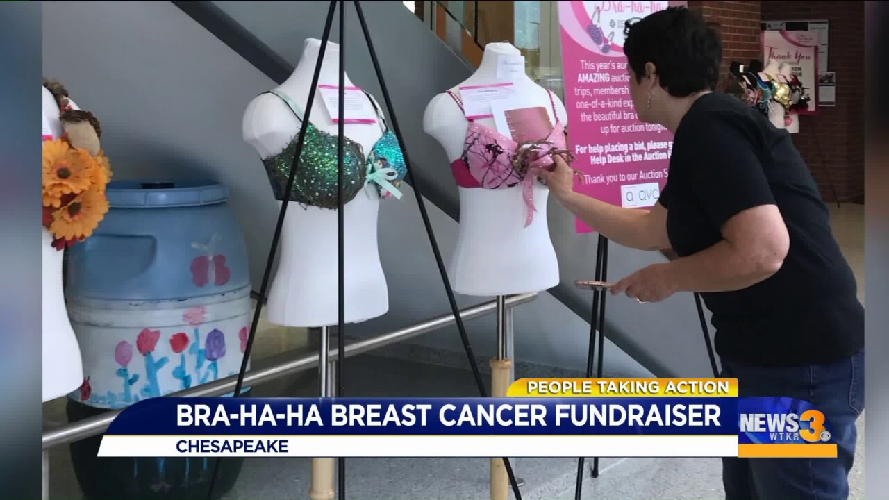 People Taking Action: Local breast cancer survivor surprised with award at Bra-ha-ha fundraisingevent!