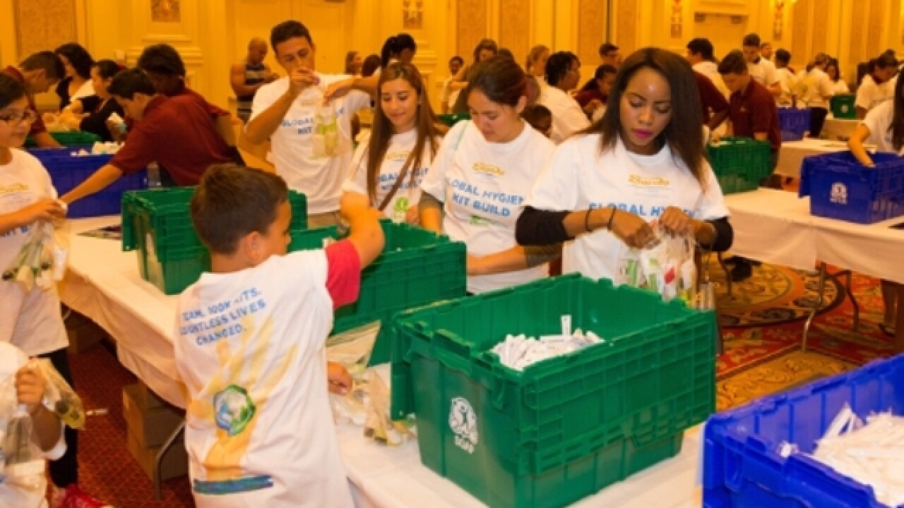 Sands Corp builds hygiene kits for families in need