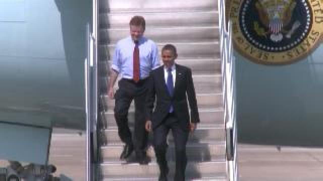 President Obama stops at Farm Bureau Live today