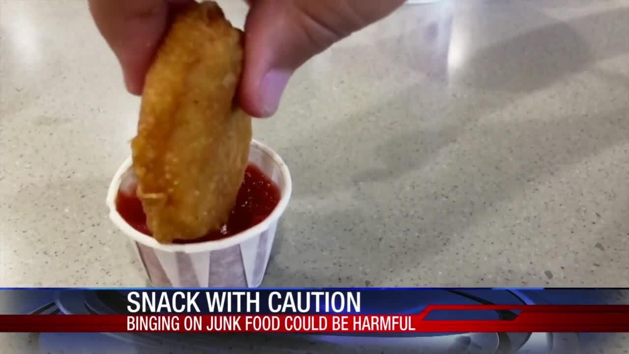 Tough not to binge on junk food