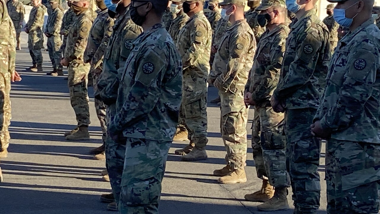 The Nevada Army Guard 1-221st Cavalry division has been called to Washington D.C. to support local law enforcement efforts around the region ahead of inauguration day