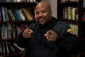 Cleveland police officer smiling