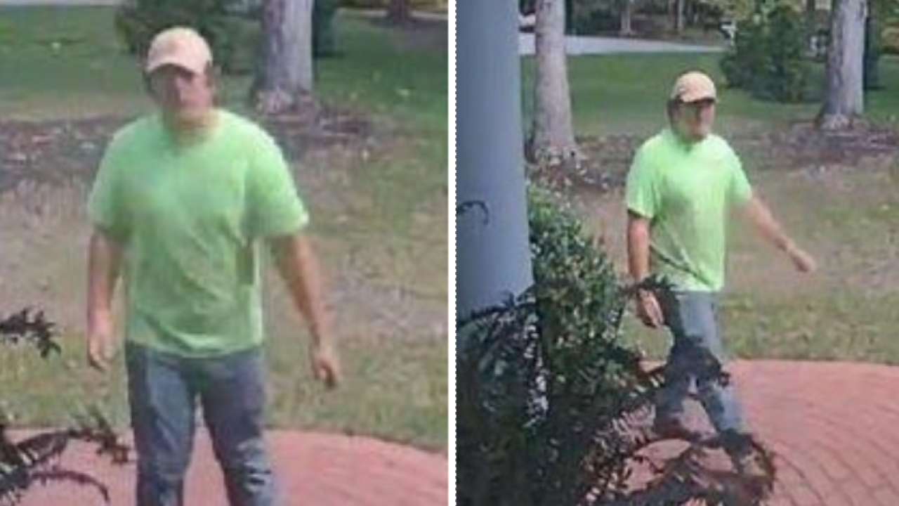 Police working to identify 'suspicious man' seen attempting to enter Chesterfieldhomes